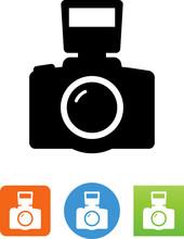 SLR Camera Icon - Illustration
