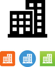 Two Buildings Icon - Illustrat...