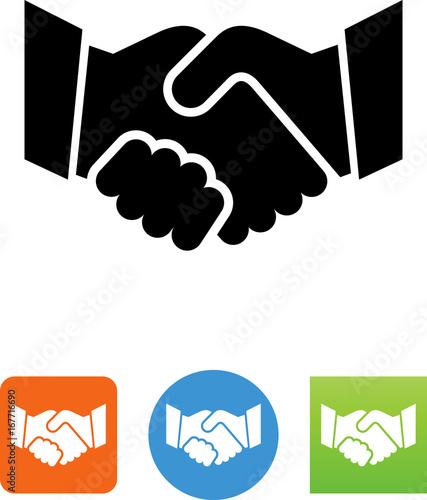 Vector Handshake Icon - Illustration Canvas Print