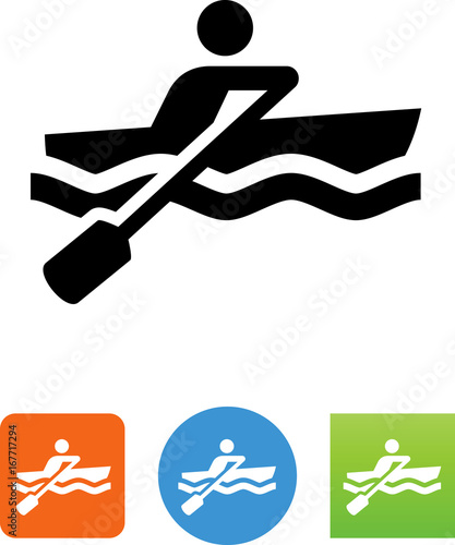 Photo Vector Rowboat Icon - Illustration