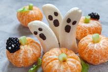 Healthy Fruit Halloween Treats...
