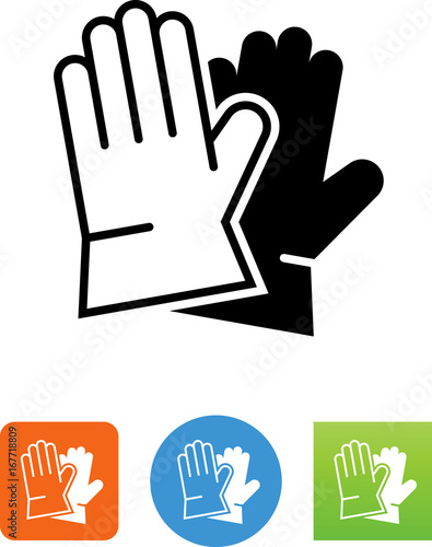 Fotografia, Obraz  Work Gloves Icon - Illustration