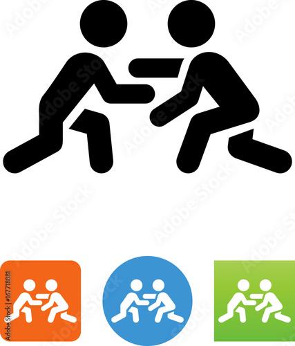 Fotografie, Obraz  Wrestling Icon - Illustration