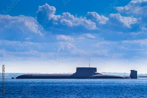 Plakat Jądrowa łódź podwodna. Okręty wojenne