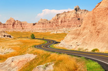 Scenic Road Across Badlands Na...