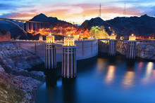 View Of The Hoover Dam In Boulder, Nevada, USA