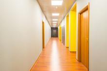 Hotel Lobby Corridor With Mode...