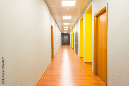 Hotel lobby corridor with modern design Canvas Print