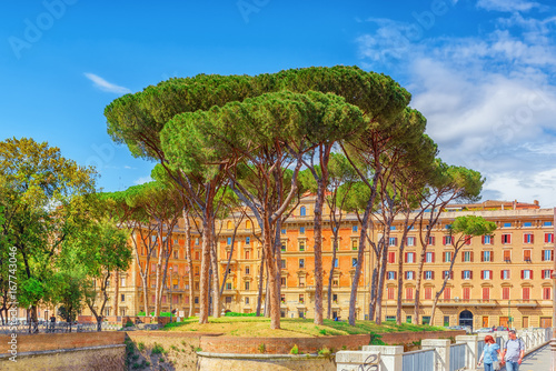 Adrian Park (Parco Adriano) near The Castle of Saint Angel (Castel Sant'Angelo) Poster