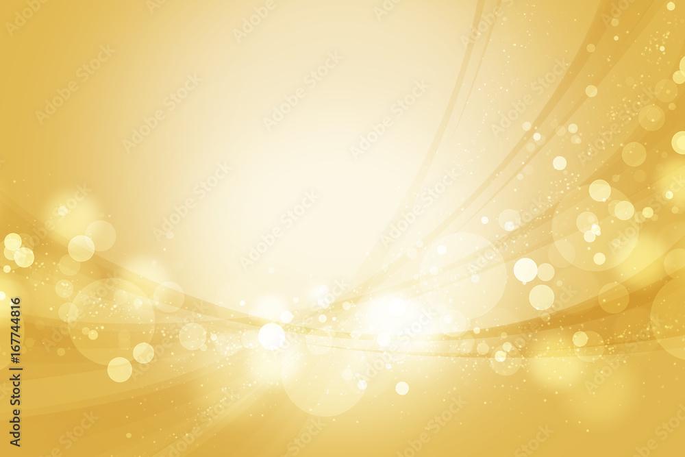 Fototapety, obrazy: 金色のウェーブ 抽象的な背景