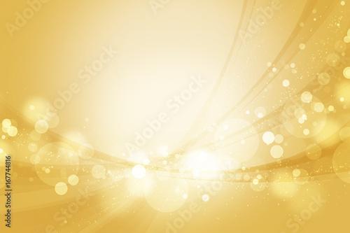 Obraz na plátně  金色のウェーブ 抽象的な背景