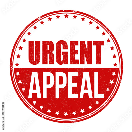 Photo Urgent appeal sign or stamp