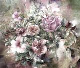 Akwarela malarstwo abstrakcyjne kolorowe kwiaty. Wiosna wielokolorowe w .nature. - 167752621