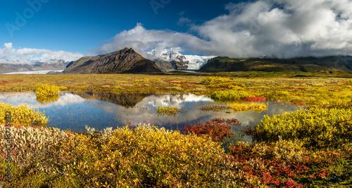 Valokuva  Farbenprächtige Herbst-Landschaft im Skaftafell Nationalpark, Südisland