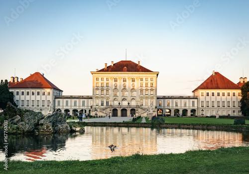 Foto auf Leinwand Schloss Schloss Nymphenburg in München