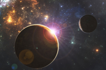 Deep space starfield, fantasy universe