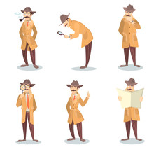 Isolated Detective Set.