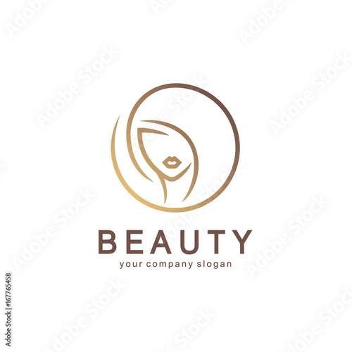 Fotografia  Vector logo design for beauty salon, hair salon, cosmetic