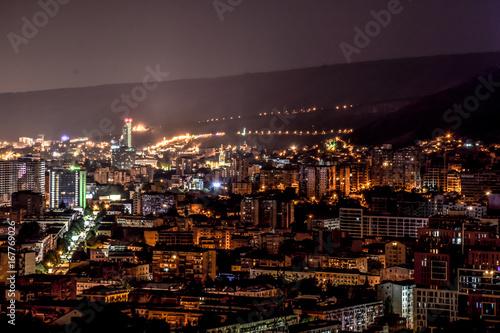 Poster Turquie Night city landscape