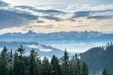 Aussicht auf die Berner Alpen vom Aebersold, Linden, Schweiz - 167769279