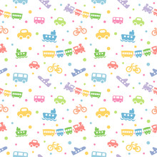 Seamless Pattern With Cute Bab...