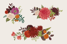 Summer And Autumn Set Floral B...