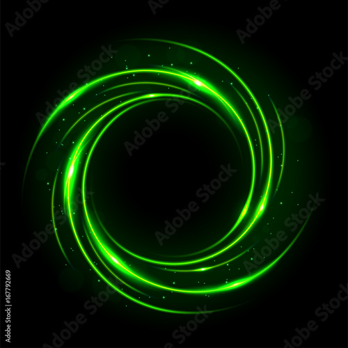 Round green light twisted, Suitable for product advertising, product design, and other Canvas Print