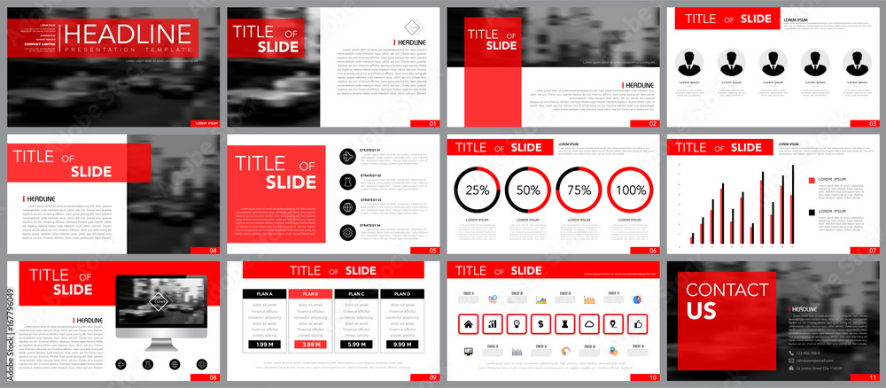 Fototapeta Design element of infographics for presentations templates.