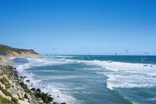 Remote View At Kite Surfers Ri...