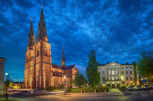 Uppsala Cathedral In The Eveni...