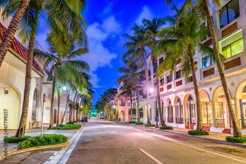 Vászonkép Palm Beach, Florida, USA at Worth Ave.