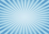 Abstract Blue rays background. Vector
