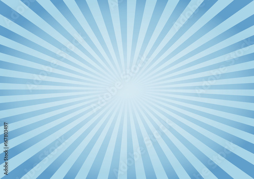 Tela Abstract Blue rays background. Vector