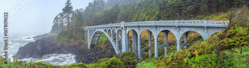 Fotobehang Brug Oregon Coast Bridges