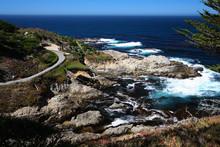 Pacific Ocean Bay In Monterey,...