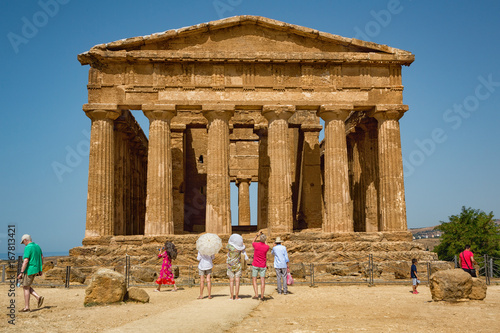 Canvastavla Agrigento, Italy - Valley of the Temples is an archaeological site in Sicily, southern Italy