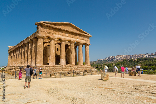 Agrigento, Italy - Valley of the Temples is an archaeological site in Sicily, southern Italy Fototapet