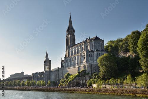 Wallfahrtsort Lourdes in Frankreich Poster