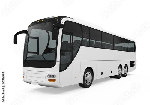 Zdjęcie XXL Autobus autokarowy na białym tle