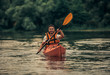 Man and kayak
