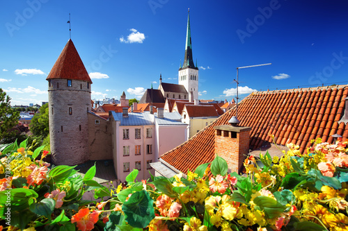 Photo  View to old Tallinn in middle summer