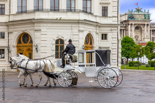 Fotografia, Obraz Old carriage touristic attraction in Vienna, Austria