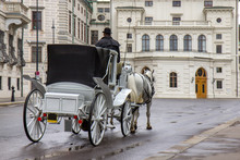 Old Carriage Touristic Attraction In Vienna, Austria