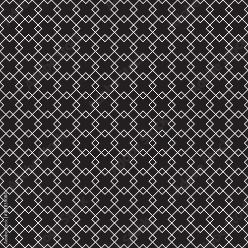 Fotografie, Obraz  Seamless geometric art deco overlapping square pattern background