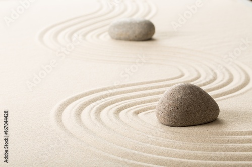 Garden Poster Stones in Sand Abstract.