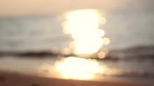 Defocused Sunset Beach With Bo...