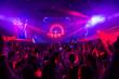 Leinwandbild Motiv Disco club with dj on the stage.