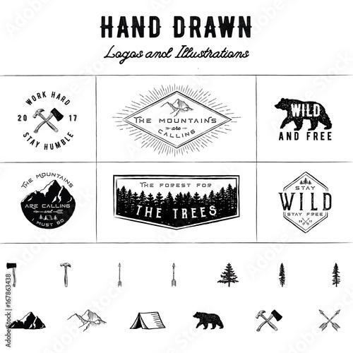 Fotografía  Rustic Logos and Illustrations