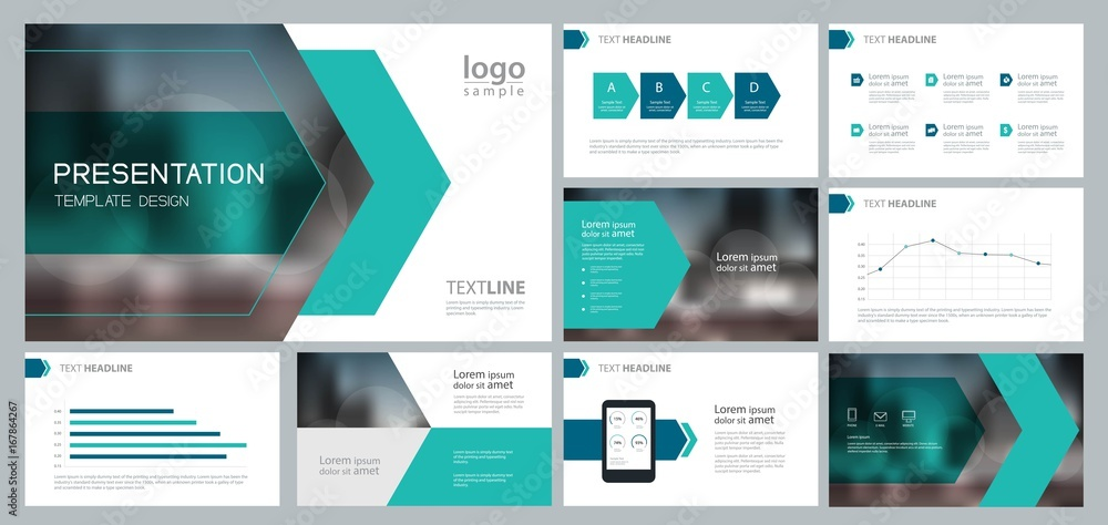 Fototapety, obrazy: design template for business presentation and page layout for brochure ,book , annual report and company profile , with infographic elements design