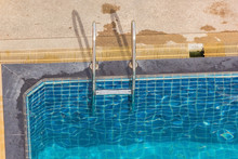 Swimming Pool With Metal Handr...